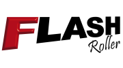 logotipo da linha de capotas marítima flash roller