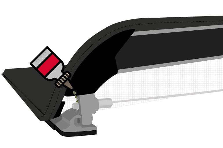lubrificação do sistema de trava da capota maritima flash cover